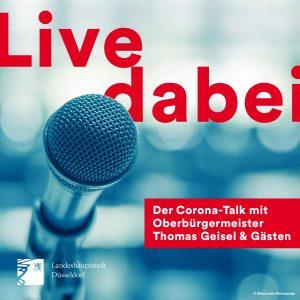 """Live dabei – """"Corona-Talk"""" mit dem Oberbürgermeister und Gästen"""