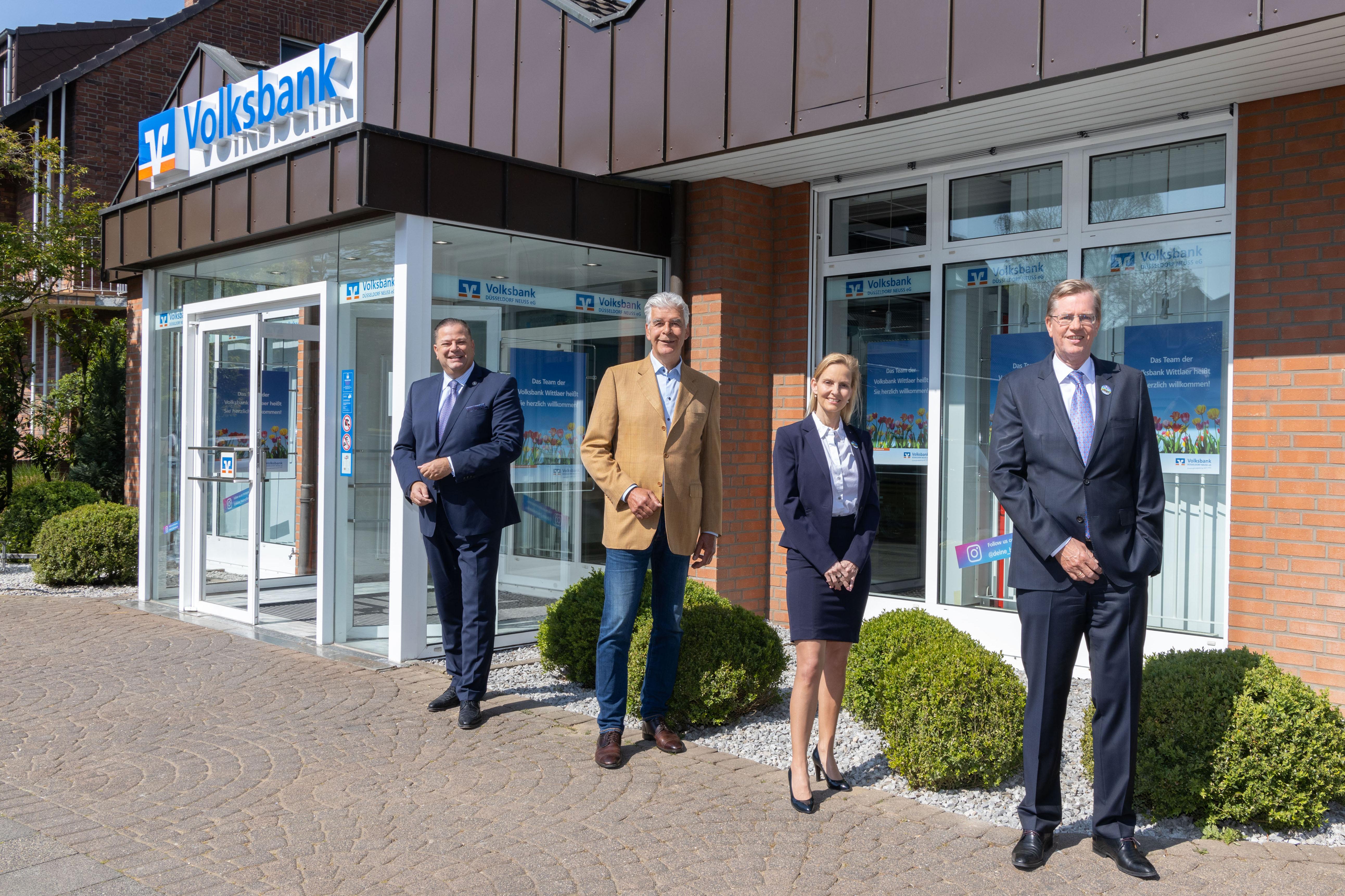 """""""Es geht voran"""" – Volksbank Düsseldorf Neuss: Umzug und Eröffnung in Wittlaer"""